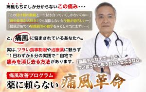 「痛風革命」薬に頼らない痛風改善プログラム 北条和之の効果口コミ・評判レビュー