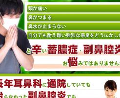 蓄膿症・鼻炎・鼻づまりを自宅で解消する方法 中村康雄の効果口コミ・評判レビュー